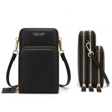 Forever Young Multifunctional Crossbody and Shoulder Bag For Women, Black-LSP
